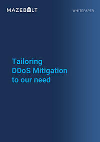 Whitepaper-Tailoring DDoS Mitigation to your needs