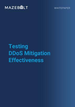 Whitepaper- Testing DDoS Mitigation Effectiveness