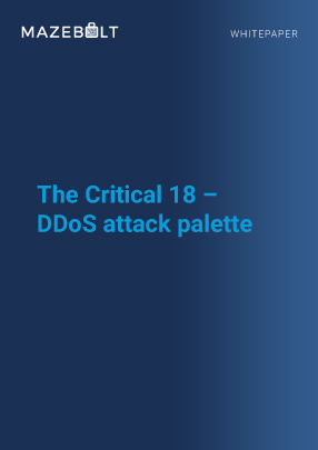 Whitepaper- The Critical 18 DDoS attack palette